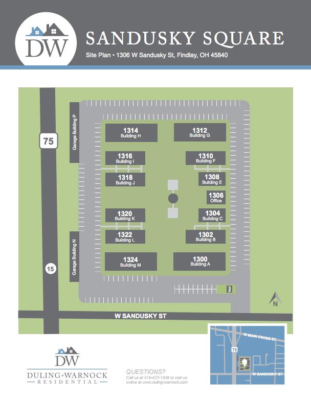 Sandusky Site Plan Duling-Warnock
